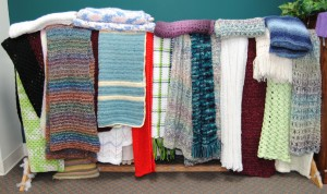 Completed prayer shawls